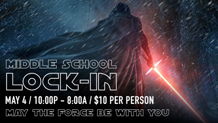 Click to register your middle-school student for Middle School Lockin.